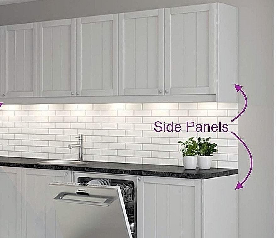 Custom Made Side Panels Faktum, Cabinet Side Panels